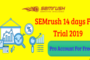 SEMrush 14 days Free Trial 2019